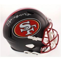 Joseph Clifford Montana Signed San Francisco 49ers Black Matte Full Size Speed Helmet (PSA COA)