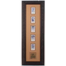 Joe Dimaggio New York Yankees 15.25x43.25 Custom Framed Autograph Card Display