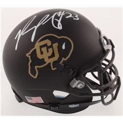 Phillip Lindsay Signed Colorado Buffaloes Matte Black Mini-Helmet (Radtke COA)