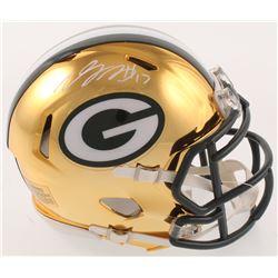 Davante Adams Signed Green Bay Packers Chrome Speed Mini-Helmet (Radtke COA)