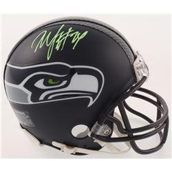 Marshawn Lynch Signed Seattle Seahawks Mini-Helmet (Radtke COA)