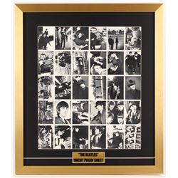 The Beatles 21x24 Custom Framed Uncut Sheet Proof Card Sheet