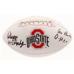 Dwayne Haskins Signed Ohio State Buckeyes Logo Football Inscribed  Go Bucks    O-H-I-O  (JSA COA)