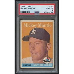 1958 Topps #150 Mickey Mantle (PSA 4)