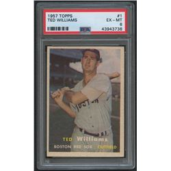 1957 Topps #1 Ted Williams (PSA 6)