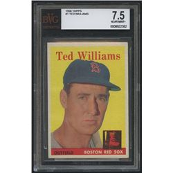 1958 Topps #1 Ted Williams (BVG 7.5)