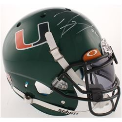 Ray Lewis Signed Miami Hurricanes Full-Size Authentic On-Field Helmet with Visor (Radtke COA  Lewis