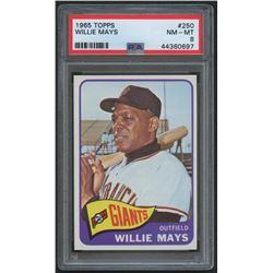 1965 Topps #250 Willie Mays (PSA 8)