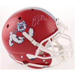 Davante Adams Signed Fresno State Bulldogs Full-Size Authentic On-Field Helmet (Radtke COA)