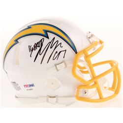 Joey Bosa Signed Los Angeles Chargers Speed Mini Helmet Inscribed  16 DROY  (PSA COA)