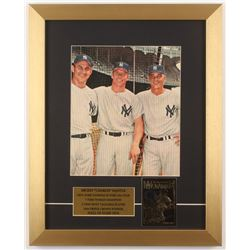 Mickey Mantle New York Yankees 14x17.5 Custom Framed Photo Display with 23 KT Gold Card