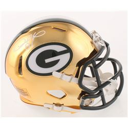 Desmond Howard Signed Green Bay Packers Chrome Speed Mini-Helmet (Schwartz COA)
