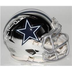 Michael Irvin Signed Dallas Cowboys Chrome Speed Mini-Helmet (Schwartz COA)