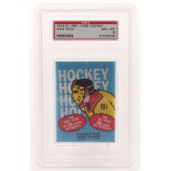 1974-75 O-Pee-Chee Hockey Wax Pack (PSA 8)