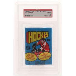 1976-77 O-Pee-Chee Hockey Wax Pack (PSA 9)