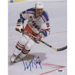 Wayne Gretzky Signed New York Rangers 8x10 Photo (PSA COA)