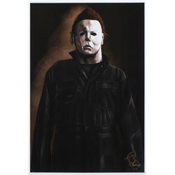 "Tony Santiago - Michael Myers - ""Halloween"" 13x19 Signed Lithograph (PA COA)"