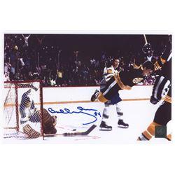 Bobby Orr Signed Bruins  The Flying Goal  11x7 Photo (Orr COA)