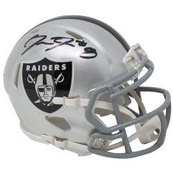 Josh Jacobs Signed Oakland Raiders Speed Mini Helmet (Beckett COA  Jacobs Hologram)