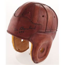 Glenn Davis  Doc Blanchard Signed Full-Size Throwback Leather Helmet Inscribed  Mr Outside 1946    1