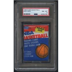 1986 Fleer Basketball Unopened Wax Pack (PSA 8)