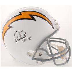 """Dan Fouts Signed San Diego Chargers Full-Size Throwback Helmet Inscribed """"HOF '93"""" (JSA COA)"""