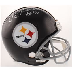 Jack Lambert Signed Pittsburgh Steelers Full-Size Authentic On-Field Throwback Helmet Inscribed  HOF