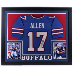 Josh Allen Signed 35x43 Custom Framed Jersey Display (JSA COA)