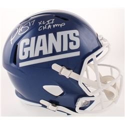 """Plaxico Burress Signed New York Giants Full-Size Color Rush Speed Helmet Inscribed """"XLII Champ"""" (Rad"""