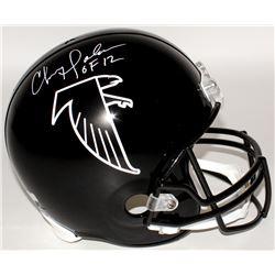 Chris Doleman Signed Falcons Full-Size Throwback Helmet Inscribed  HOF 12  (Radtke COA)