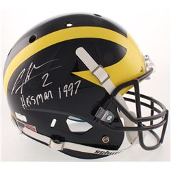 "Charles Woodson Signed Michigan Wolverines Full-Size Helmet Inscribed ""Heisman 1997"" (Radtke COA)"