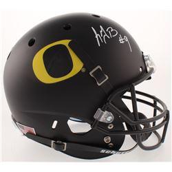 LeGarrette Blount Signed Oregon Ducks Full-Size Matte Black Helmet (Radtke COA)