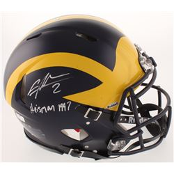 """Charles Woodson Signed Michigan Wolverines Full-Size Authentic On-Field Speed Helmet Inscribed """"Heis"""