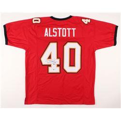 Mike Alstott Signed Jersey (Beckett COA)