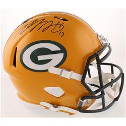 Davante Adams Signed Green Bay Packers Full-Size Speed Helmet (Radtke COA)