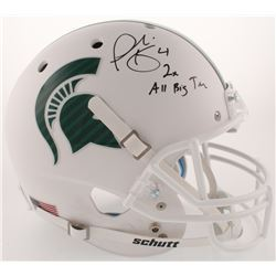 """Plaxico Burress Signed Michigan State Spartans Full-Size Matte White Helmet Inscribed """"2x All Big Te"""