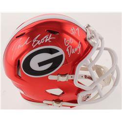 "D'Andre Swift Signed Georgia Bulldogs Chrome Speed Mini Helmet Inscribed ""Go Dawgs"" (JSA COA)"