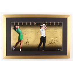 Nancy Lopez  Annika Sorenstam Signed LE 17x26 Custom Framed Photo Display (UDA Hologram)