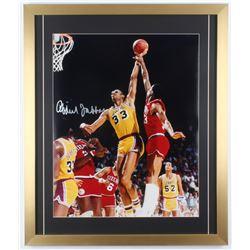Kareem Abdul-Jabbar Signed Los Angeles Lakers 22x26 Custom Framed Photo Display (PSA COA)