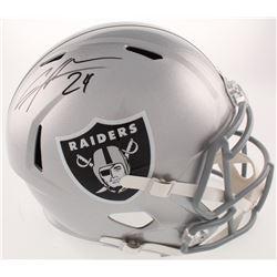 Charles Woodson Signed Oakland Raiders Full-Size Speed Helmet (Radtke COA)