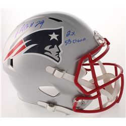 "LeGarrette Blount Signed New England Patriots Full-Size Speed Helmet Inscribed ""2x SB Champ"" (Radtke"