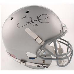 Santonio Holmes Signed Ohio State Buckeyes Full-Size Helmet (Radtke COA)