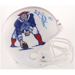 Rob Gronkowski Signed New England Patriots Full-Size Throwback Helmet (Radtke COA)