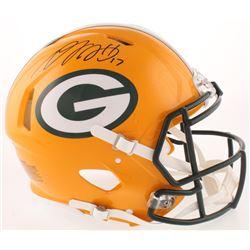 Davante Adams Signed Green Bay Packers Full-Size Authentic On-Field Speed Helmet (Radtke COA)