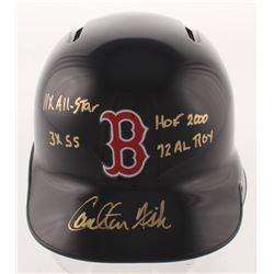 "Carlton Fisk Signed Boston Red Sox Full-Size Batting Helmet Inscribed ""11x All-Star"", ""3x SS"", ""HOF"
