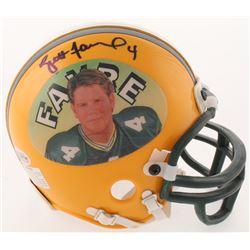 Brett Favre Signed Green Bay Packers Mini Helmet (Beckett COA)