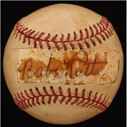 Babe Ruth Signed OAL Baseball (Beckett LOA)
