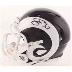Todd Gurley Signed Los Angeles Rams Throwback Speed Mini Helmet (Beckett COA)