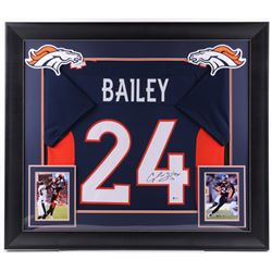 Champ Bailey Signed 32x36 Custom Framed Jersey (Beckett COA)