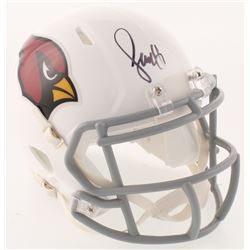 Larry Fitzgerald Signed Arizona Cardinals Speed Mini-Helmet (Beckett COA)